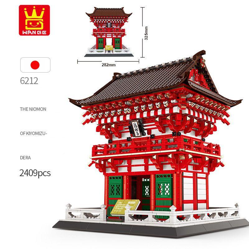Wange 2409pcs Mimarlık Japonya Kiyomizu Tapınağı Yapı Taşı Uyumlu İl Tuğla Eğitim 6212 Oyuncak Noel Hediye birleştirin