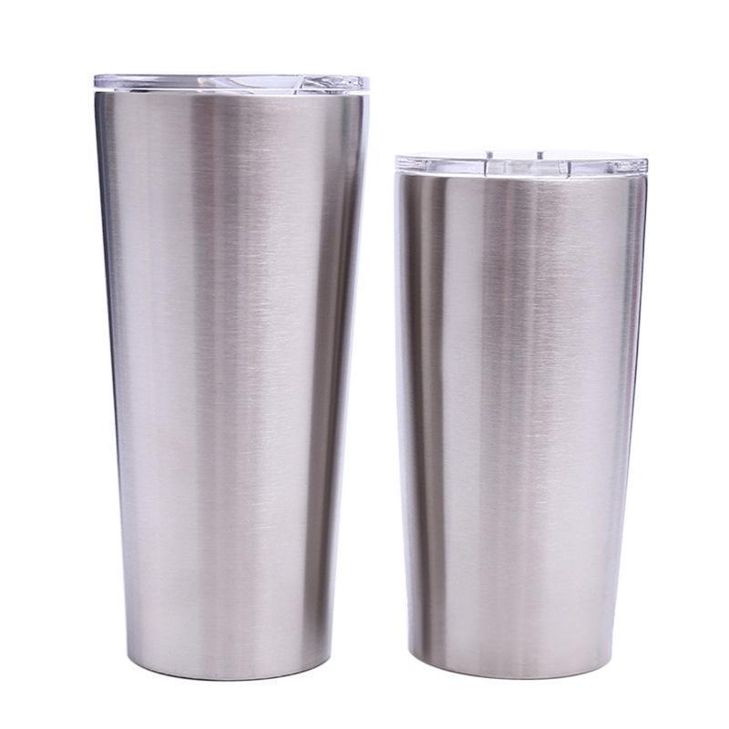 net kapaklarının MMA1906 ile 24 oz 20 oz Canbaz Kahve Kupa Paslanmaz Çelik Çift Duvar Vakum İzoleli Bira Bardaklar Drinkware Vakum Kupalar