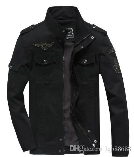 2019 primavera de los hombres europeos americanos Ropa de algodón uniforme militar Abrigos Abrigos chaqueta casual chaquetas de herramientas