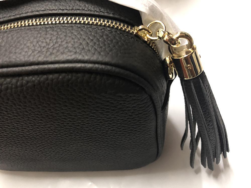 Çantalar SOHO DISCO Çanta Gerçek Deri püskül fermuar Askılı çanta kadınlar Crossbody çanta tasarımcısı çanta Box gel