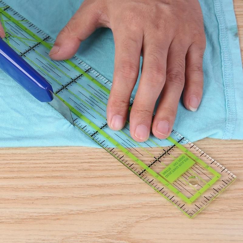 Doppio-colore Righello Patchwork Piedi Tailor Yardstick Taglio trapuntatura fai da te a mano per cucire Strumenti cancelleria disegno Righello