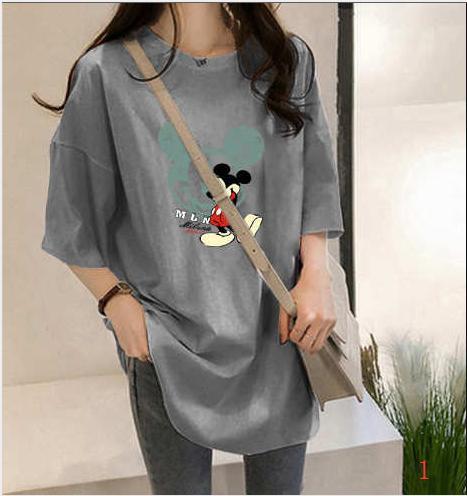 2020 Yeni Moda Kadın Tasarımcısı tişörtler Yaz Gevşek Nefes Artı Ölçekli Bayan Bezleri Karton Stil Fare Bezleri PH + ZY20042403 yazdır
