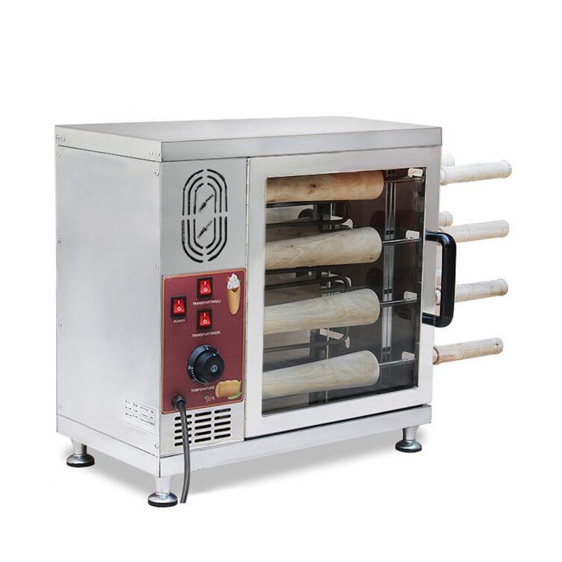 Baca pasta rulo makine otomatik kızartma ekmek rulo makinası elektrik baca kek satışı gözleme koni makinesi için fırın