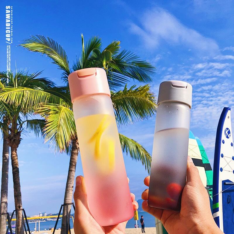 الإبداعية لطيف فتاة المياه زجاجة متجمد الزجاج Drnk زجاجة مع 420ml مرآة الطالب المحمولة مانعة للتسرب DRINKWARE هدية BPA الحرة