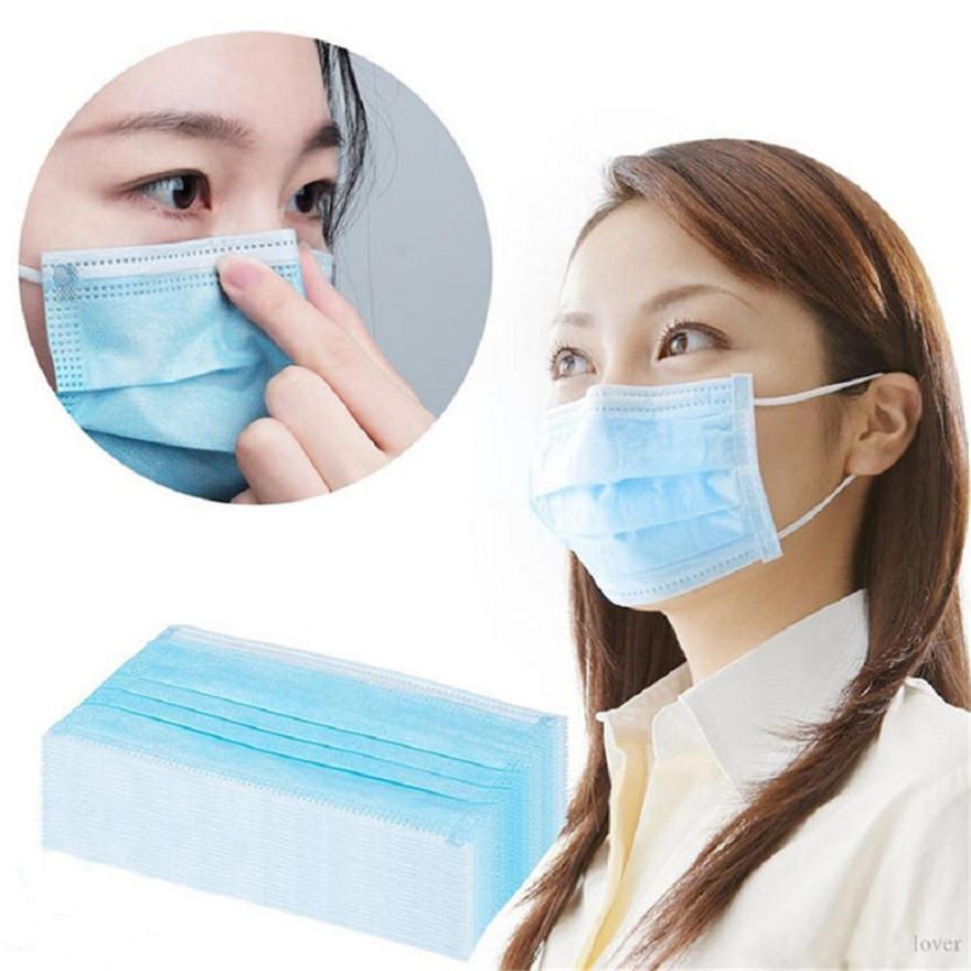 Mascarilla de cara Adulto y niños Máscaras desechables con lazo elástico LOOP 3 PLY Bloqueo transpirable Anti-Polvo Facenas