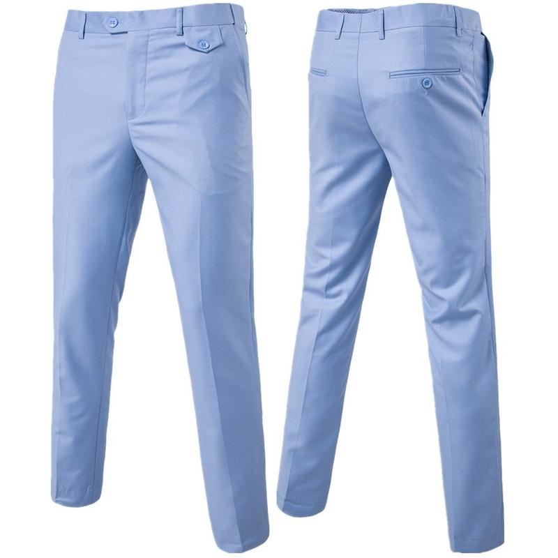 Quality Men Suit Pants Solid Color Casual Business Office Trousers Slim Men's Groom Dress Wedding Pants Men Large Size 6XL