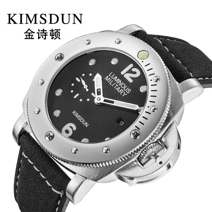 2019 novos homens relógio de negócios de luxo pulseira de couro fino aço case à prova d 'água grande mostrador do relógio de quartzo dos homens top marca grande relogio