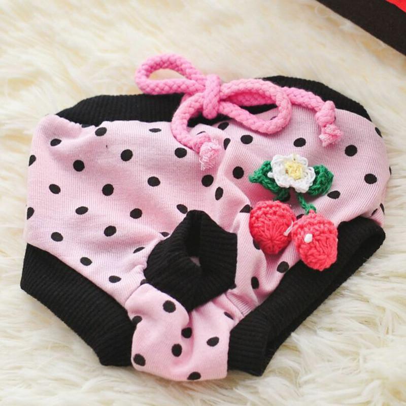 Calças Pet Physiological Menstrual Higiene cão reutilizáveis Sanitária Fraldas para Cães Gatos laváveis estro animal de estimação pequeno Shorts Roupas