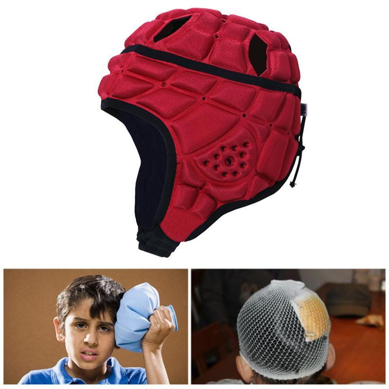 Goalkeeper Helmet Men Women Profession Adjustable Anti-Collision Football Soccer Goalie Helmet Guard Breathable Rugger Roller