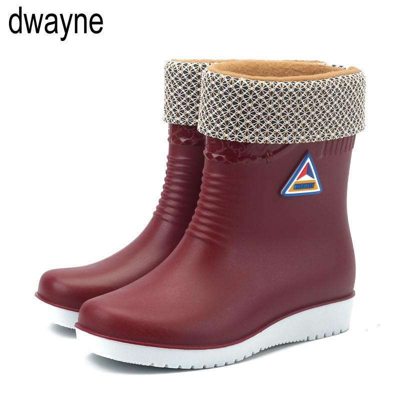 Yeni Lastik Ayakkabı Moda Yağmur Botları Kız Bayanlar Su geçirmez PVC Kadın Boots Kış Kadın Martins çizmelere 2019 LY191224 Walking