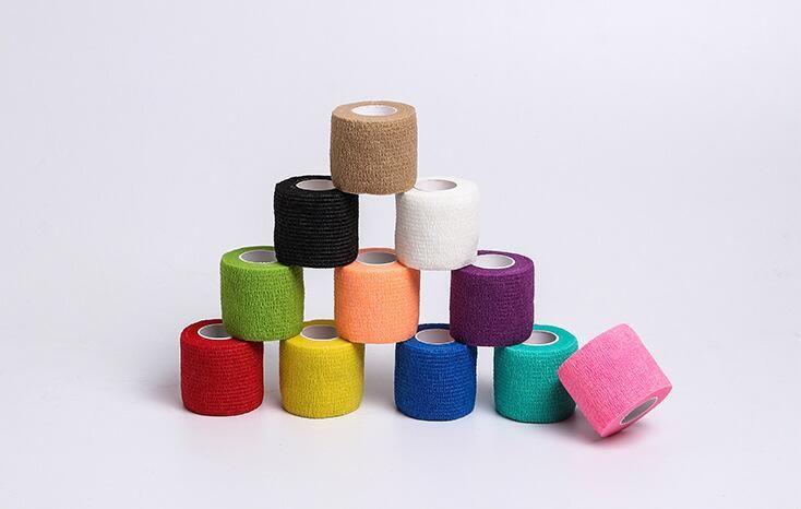 Protección deportiva Vendaje elástico Color Vendaje autoadhesivo Cinta muscular Articulaciones de los dedos Envoltura Kit de primeros auxilios