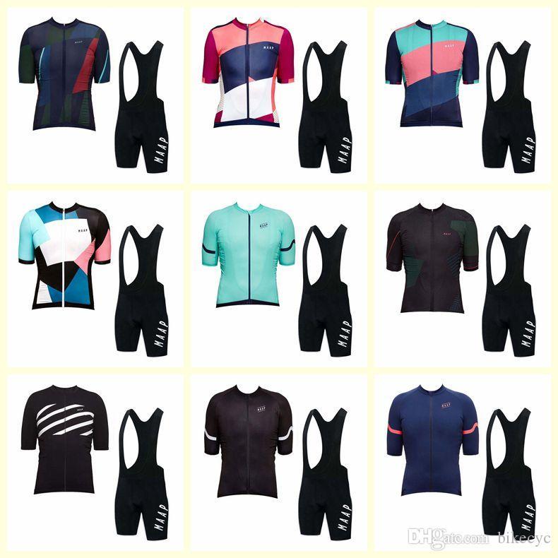 Maap Takımı Bisiklet Kısa Kollu Jersey Önlüğü Şort Setleri Açık Bisiklet Yeni Yaz Stil MTB Ciclismo U123105