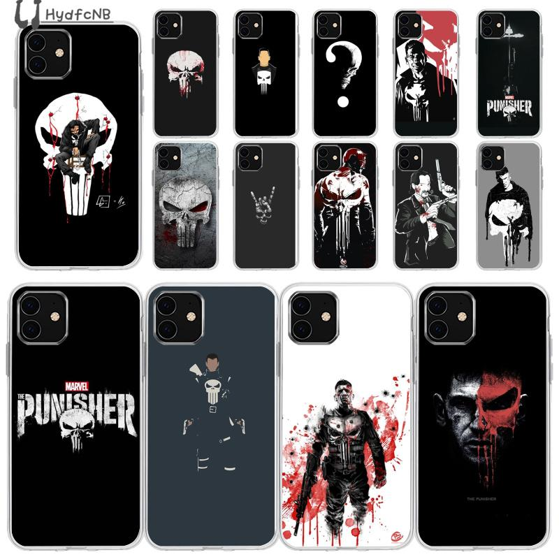 2020 Punisher Frank Castle TPU Soft Phone Case for iPhone 11 pro XS MAX 8 7 6 6S Plus X 5 5S SE XR cover