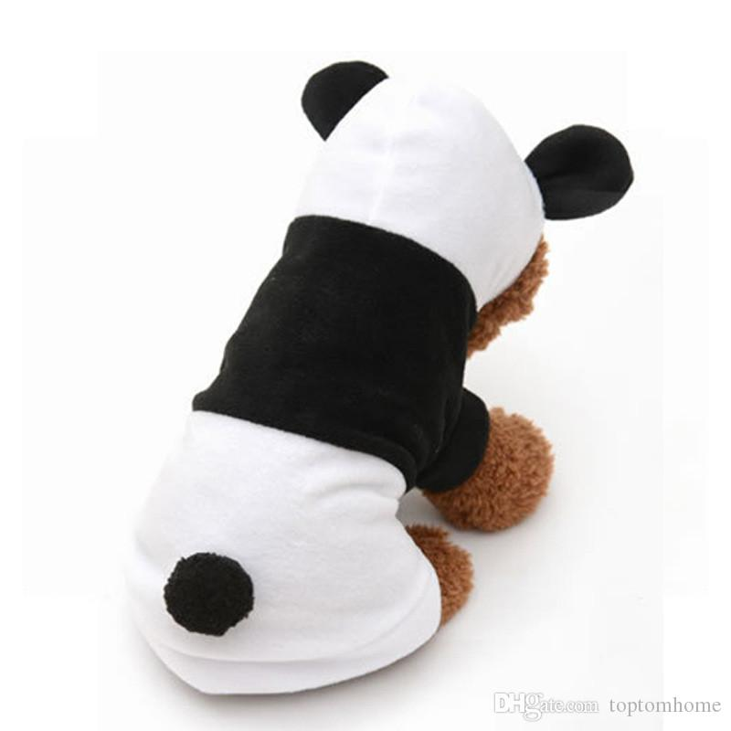 Dogs Cute Panda Hoodie Autumn Winter Dog Halloween Lovely Dress up clothes Small Pet Dog Cats Coat Clothing