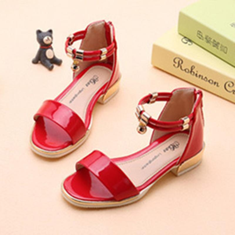 Kids Sandals Patent Leather Shoes