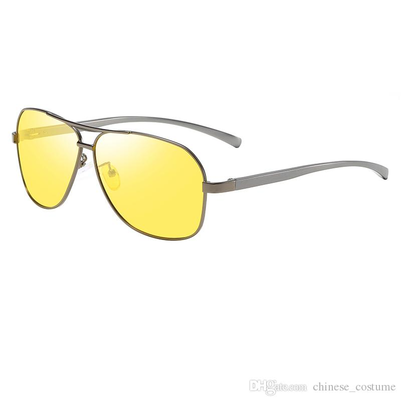 Top dos homens novos óculos de sol dos homens designer de marca de óculos de sol dos homens piloto retro de alumínio e magnésio polarizada óculos de sol óculos de acessórios