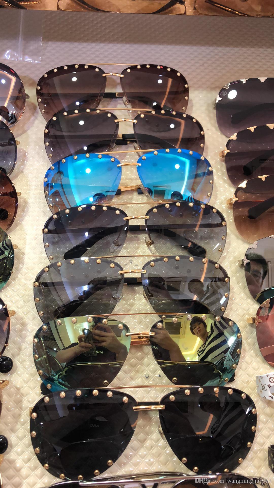 Nueva alta calidad 0914 para hombre de las gafas de sol Gafas de sol hombre gafas de sol estilo de la moda las mujeres protege los ojos Gafas de sol Gafas de sol con la caja