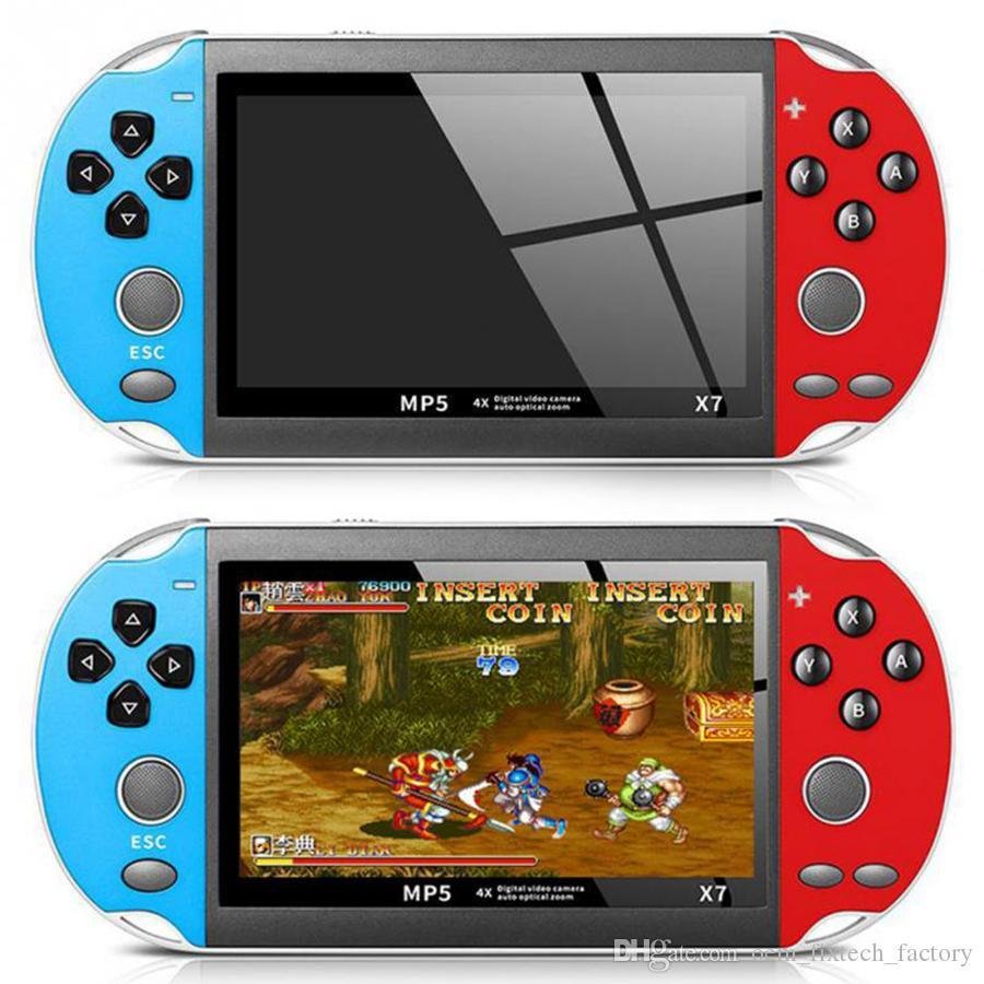 4.3 بوصة لGBA لعبة محمول وحدة التحكم X7 لاعب 300 مجاني ريترو الالعاب عرض LCD لعبة لاعب مقابل التبديل