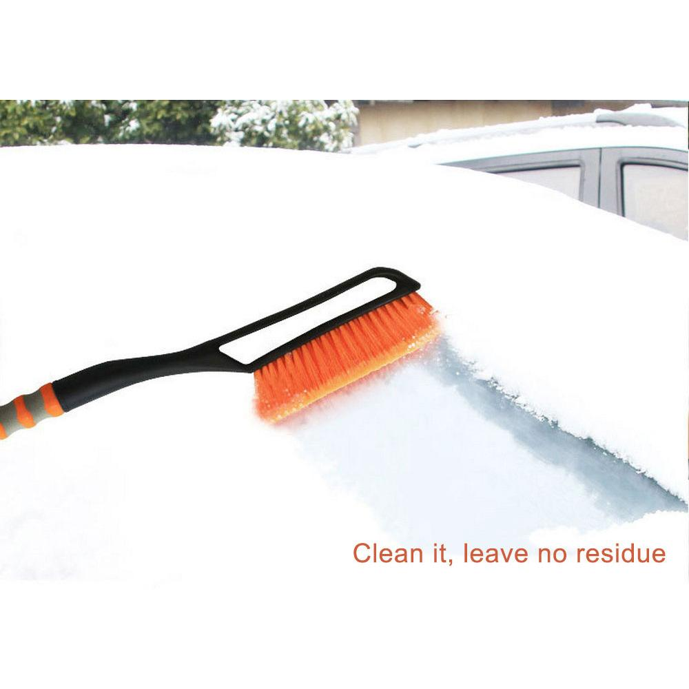 Winter car snow removal shovel glass snow frost shovel ice scraper deicing ice two-in-one retractable