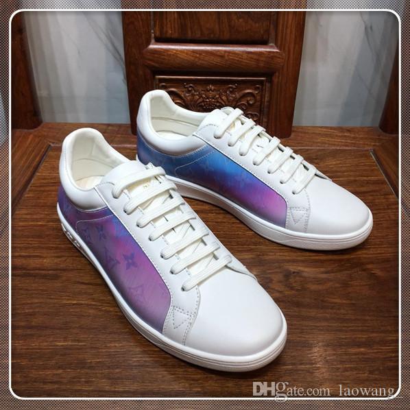Rahat ayakkabı erkekler Üst Lüks Yüksek Kalite Moda Ayakkabı Sneakers Nefes Spor Erkek Ayakkabı Casual Dantel-up