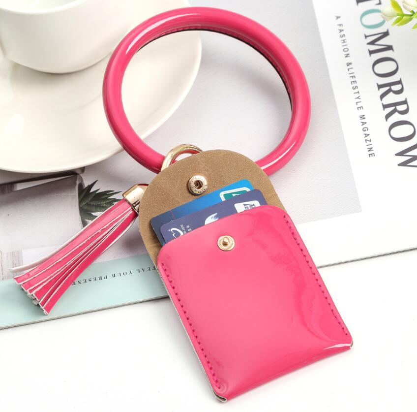 2020New Amazon düz baskı kart çanta bilek anahtarlık cüzdan PU deri düz baskı bilezik bileklik bileklik kolye stokta