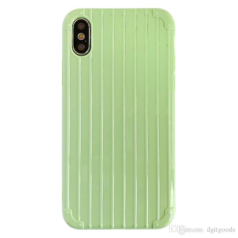 Silikon-Hüllen für iPhone 11 PRO MAX 4 SIDE XS XR 7 8 Plus Gepäck-Mobiltelefonabdeckung All-Inclusive Candy Color von dhl