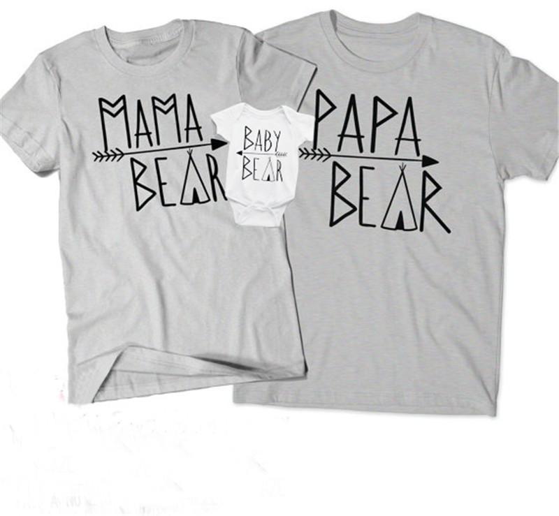 Ebeveyn-çocuk Eşleştirme T-shirt Aile Eşleştirme Kıyafetler Kısa Kollu Mektup Yuvarlak Boyun Çift Gündelik Giyim Çocuklar Romper 32
