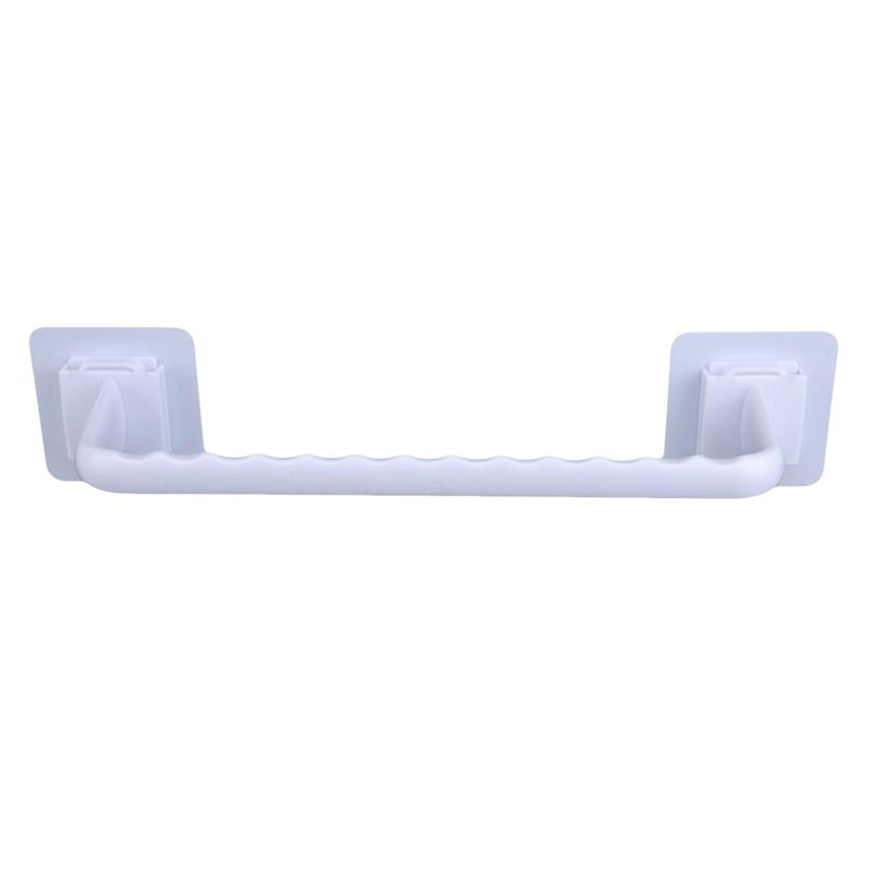 Bathroom Towel Bar Plastic Bath Self Adhesive Wall Rack Hanging Towel Rod Stick On Sticky Hanger Bathroom Tools Accessories