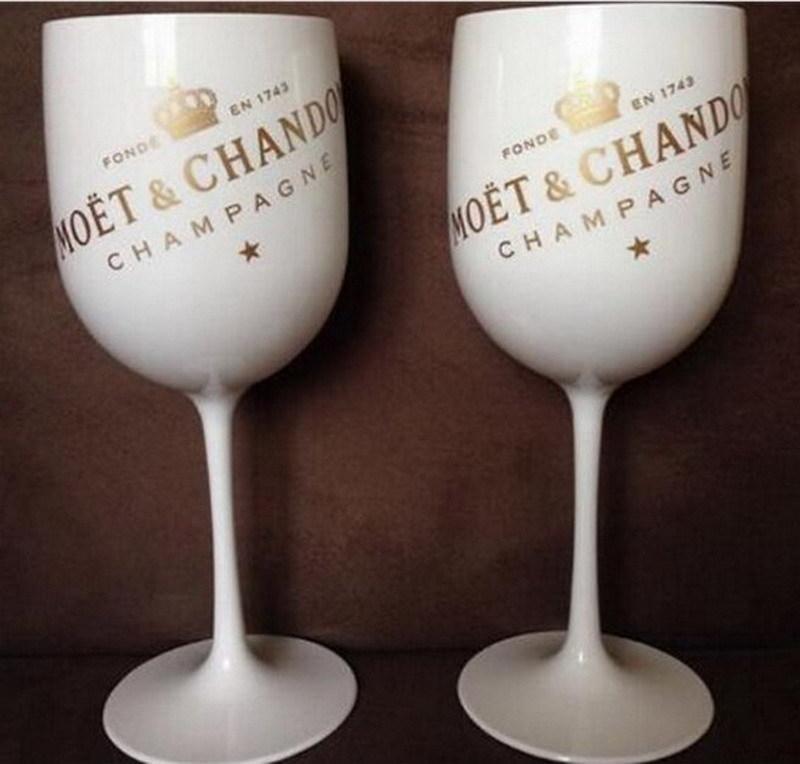 Festa de vinho de plástico branco champanhe vidro moet moet moet um pedaço t200216
