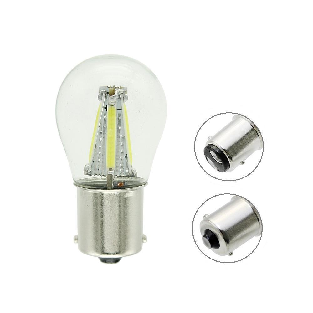 2 adet ANBLUB 12 V 4 Filament Cips LED 1156 BA15S 1157 BAY15D COB LED Araba Fren Lambası Ters Ampul Torna Sinyal Lambası DRL Işıkları