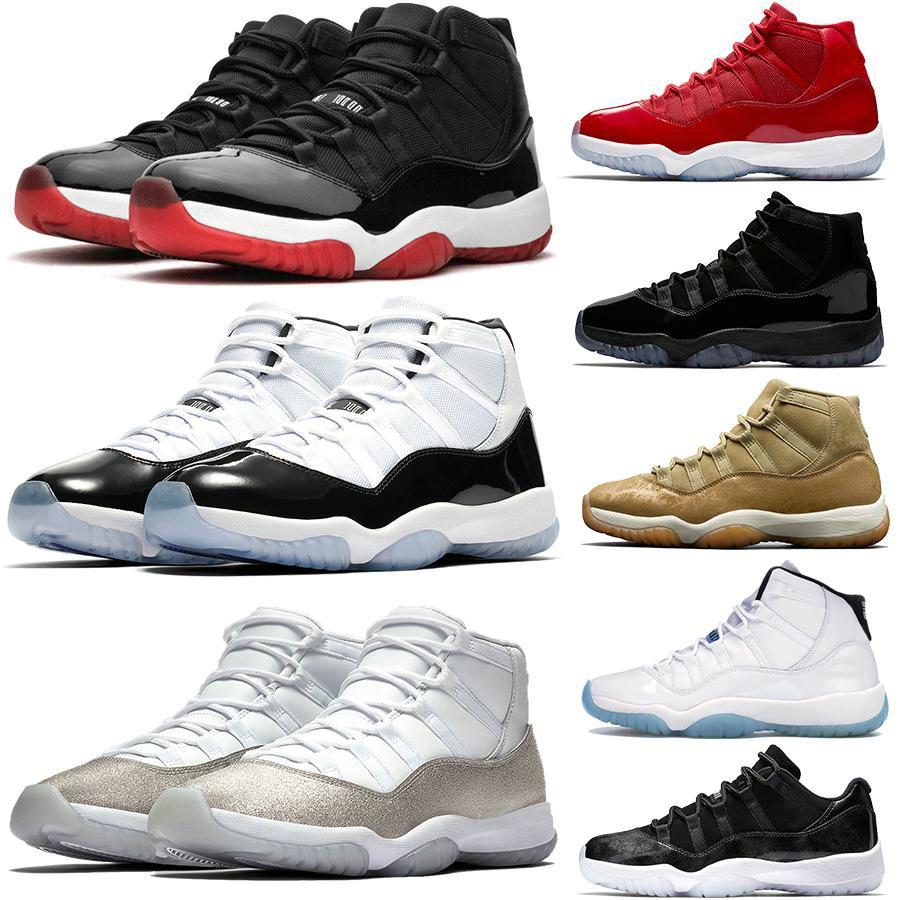 2020男性のバスケットボールの靴11Sホワイトブレッドコンコールスネークスキン広大なクールグレーUNCガンマレジェンドブルー11スポーツスニーカーパックコンコルド屋外靴