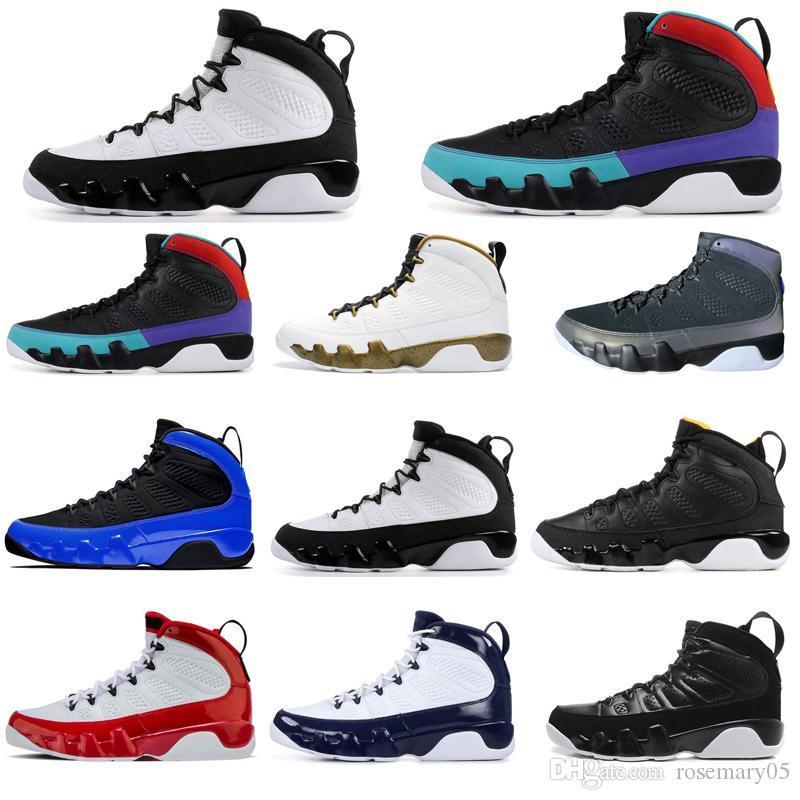Top jumpman qualità 9 9s uomini scarpe da basket Racer Blu Gym Red UNC Citurs Nero statua mens bianchi formatori sport scarpe da tennis di dimensioni 7-13