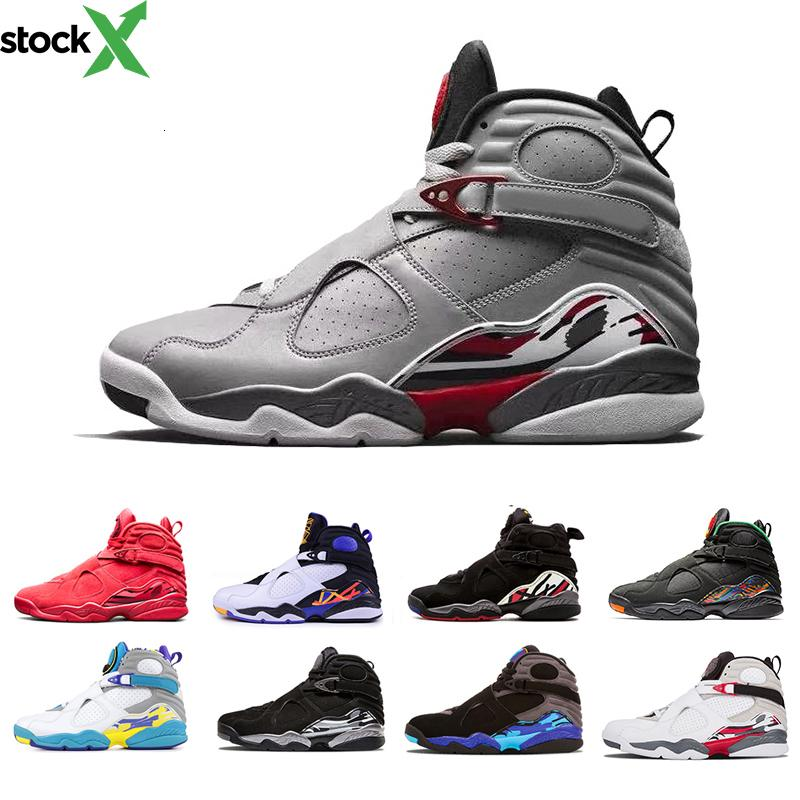 New 3M Reflective Valentine s Day Red 8 VII 8s men Basketball Shoes Raid Three Peat Aqua Chrome COUNTDOWN PACK mens outdoor Sports Sneakers