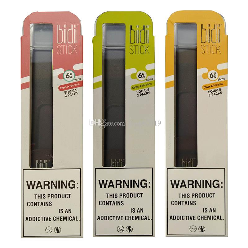Novità del dispositivo Bidi Stick monouso Pod portatile Kit pre-riempite cartucce Vape Pen vapore 1.4ml 280mAh Batteria eCig Carrelli PREMIUM vaporizzatore