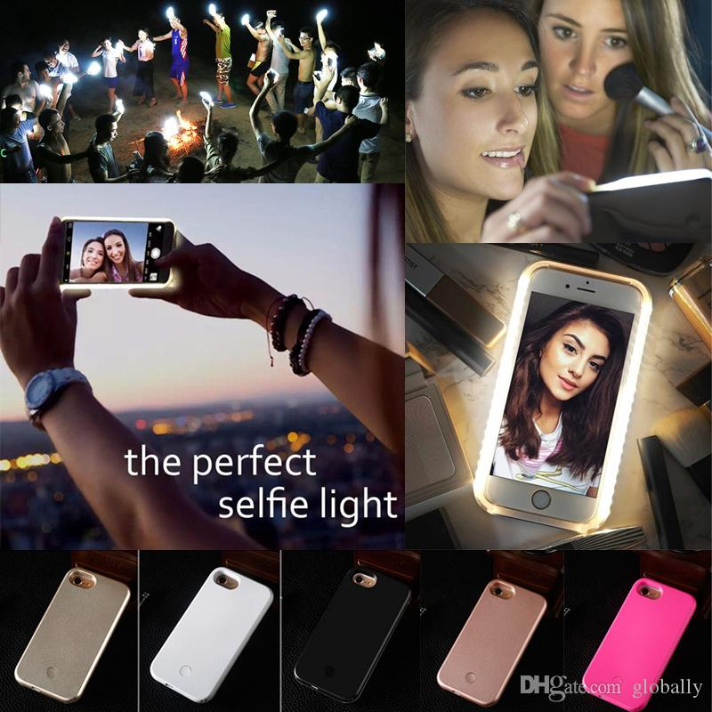 For iphone XR XS Max Smart Phone Protector Fill Light Artifact 2 in 1 Dirty-proof Cell Phone Cover Selfie Mobile Phone Case