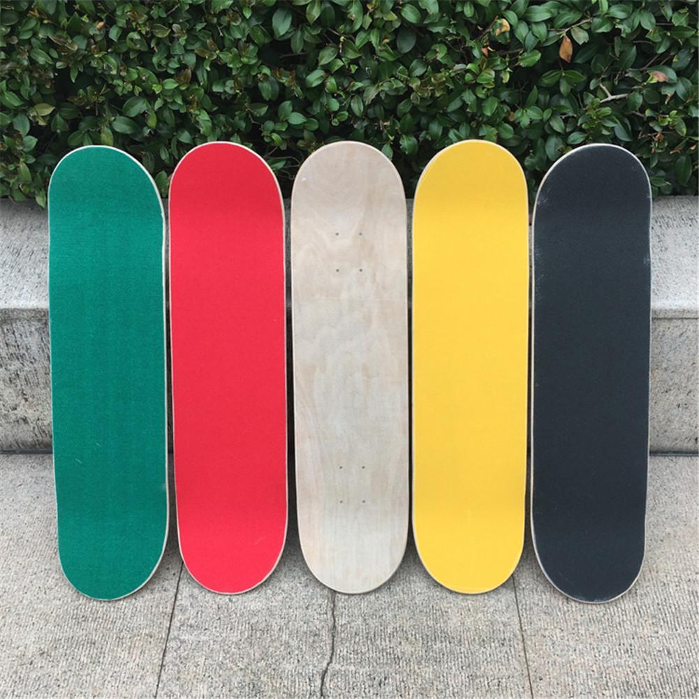 84 * 23cm Kaykay 4 Tekerlek Zımpara Griptape Giyim Dayanıklı Kalınlaştırıcı Büyük Güverte Zımpara Griptape İçin Kaykay ucuz Skate Board
