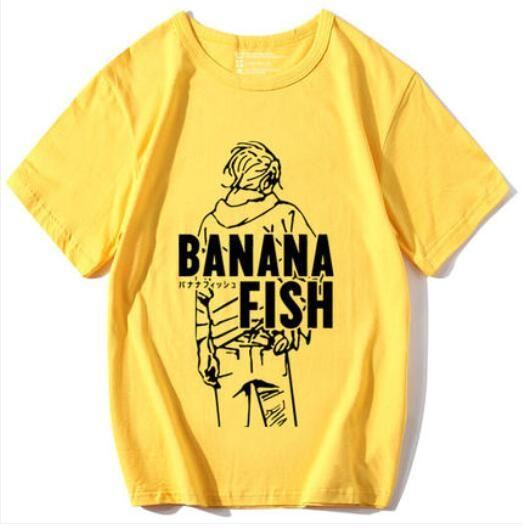 Anime BANANA FISH cosplay T-shirt Ash Lynx men T Shirt terylene Short Sleeve Tops