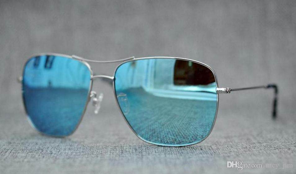 Markendesigner Mcy Jim 774 Sonnenbrille Hochwertige polarisierte randlose Linse Männer Frauen fahren Sonnenbrille mit Etui