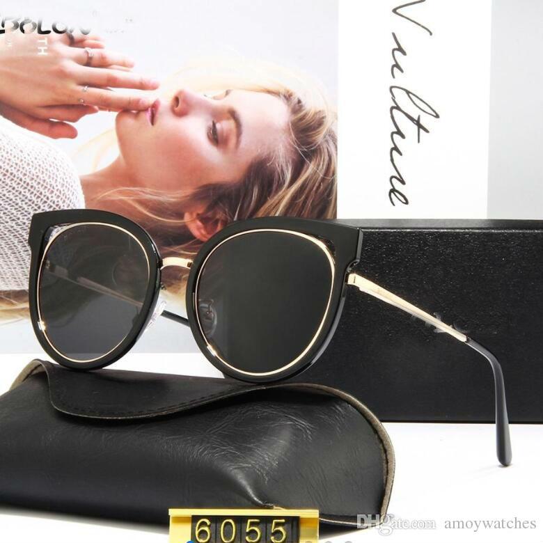 Nuovi occhiali da sole piastra personalità femminile grande tendenza telaio occhiali materiale TR90 alta lente polarizzante chiaro combinati con metallo fr