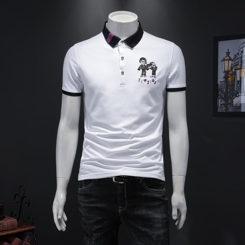 2020 hombres de alta calidad de manga corta de moda de verano camiseta casual cómodo cuello redondo camiseta ropa de moda ZHHO
