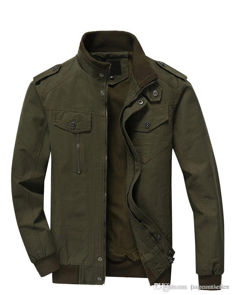 Мужская модельер летающие куртки мужские хлопчатобумажные мыть с длинным рукавом верхняя одежда новая модная повседневная мужская одежда