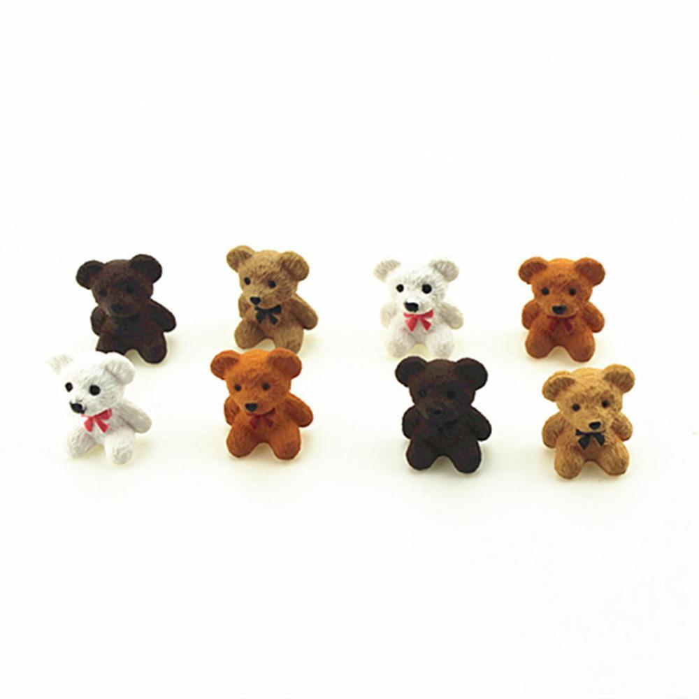 1Pcs 1/12 Dollhouse Miniature Acessórios Mini Urso Simulação Miniature Furniture Toy Animal boneca Decoração