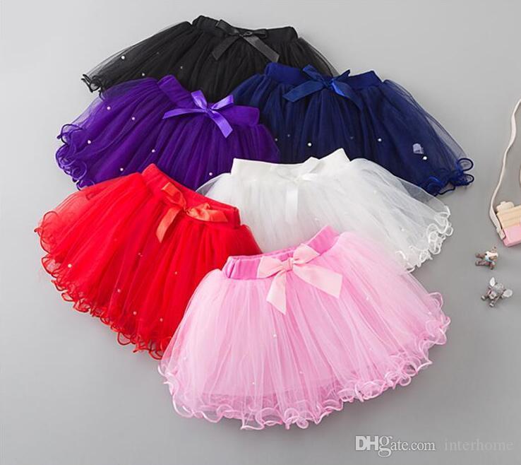 Kids Clothes Baby Girls Tulle Tutu Skirts Fairy Pettiskirt Fancy Skirts Ballet Bowknot Skirts Dancewear Princess Mini Dress Stage Wear A5343