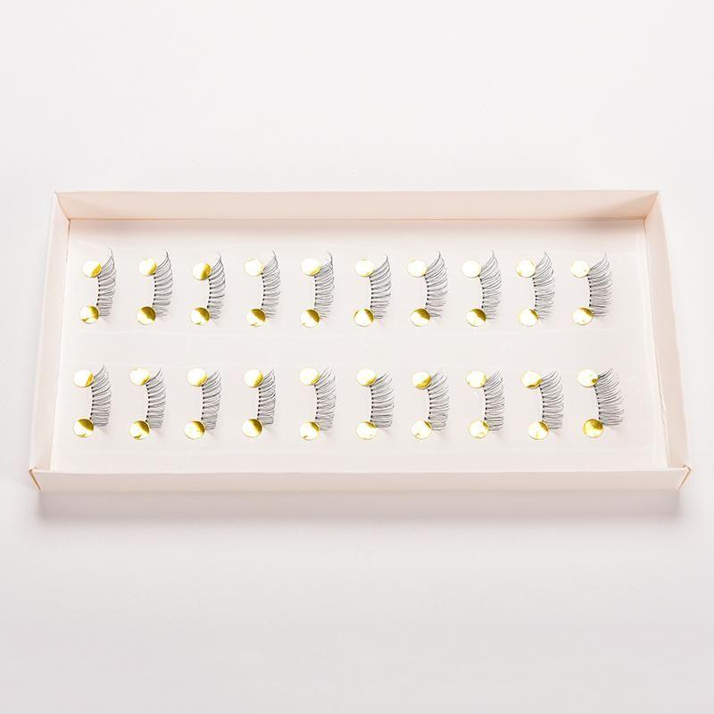Новые 10 пар макияж накладные ресницы натуральный ручной крест длинные ресницы расширение половина мини уголка ресницы