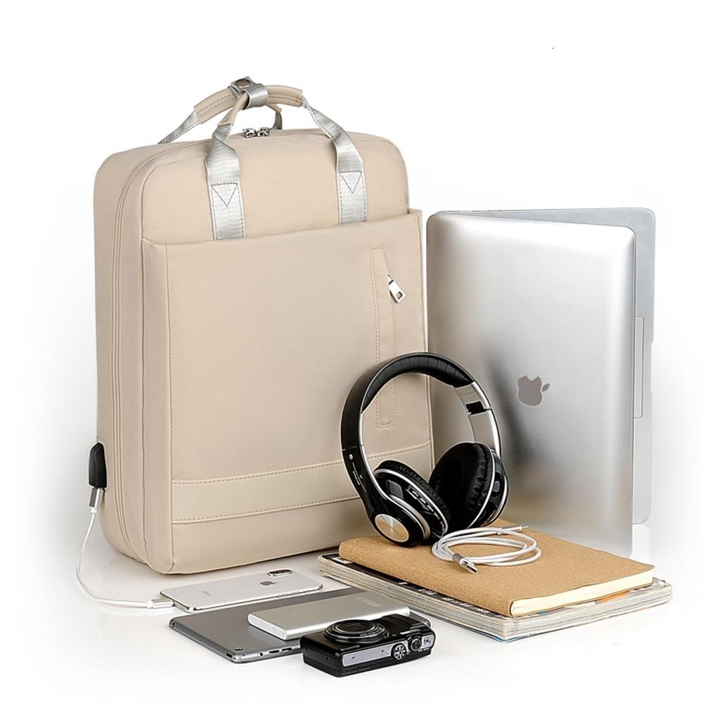 2019 Nuovo antifurto Borsa da viaggio zaino Donne Grande capacità commerciali USB Charge Uomini Laptop Backpack College Student sacchetto di scuola CJ191130