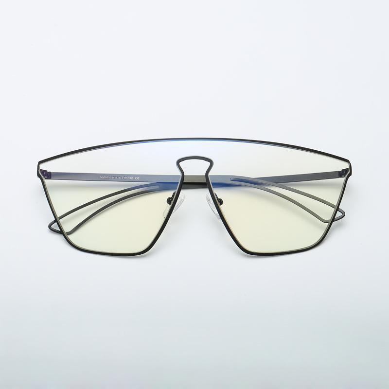 Ins Popular Oversize Full Frame Vidros de Lente Integrada Tendência 90`s Goggle Óculos de Moda Quadro