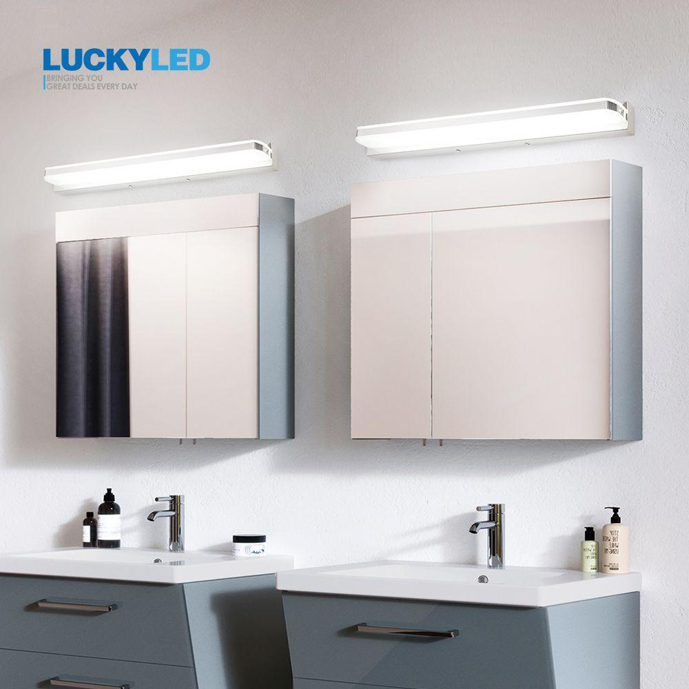 LUCKYELD Modern Bathroom Lamp Waterproof Led Mirror Light 9W 12W AC 85-265V Wall Light Fixture Vanity Sconce Led Wall Lamp
