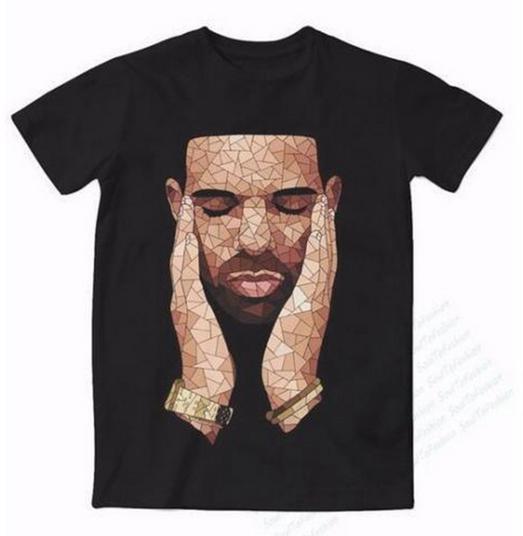 Мужчины женщины мода лето стиль Drake OVO 3D тройники печатных с коротким рукавом шею повседневная футболка топы WR072