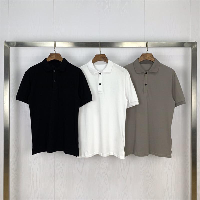 Nouveau Hommes Casual Polo broderie de haute qualité à manches courtes mode classique pour hommes Polos Printemps Vêtements T-shirts Tops T-shirt