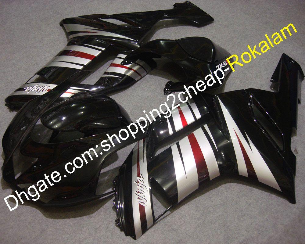 Piezas de carrocería de la motocicleta para los carenados de Kawasaki ZX 6R 07 08 ZX-6R Cowling 2007 2008 636 ZX6R (moldeo por inyección)